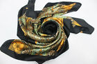 Classic Ladies Vintage Corsage Royal Pattern Silk Long Square Scarf