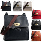 Unisex Vintage Faux Leather Large Small Satchel School Bag College Messenger Bag