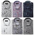 Mens Premium Retro Floral Full Paisley Dress Shirt Tailored Vintage MOD S-4XL