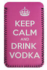 Keep Calm Drink Vodka Pink COVER  CASE POUCH Sleeve Fits Kobo Glo, Touch, Aura