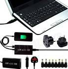 Universal Mains + Car Laptop Charger AC Power Adapter + USB For V2386TU nVarious