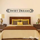 Sweet Dreams Vinyl Art Scrolls Home Wall Room Quote Decal Sticker Decoration