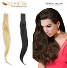 EURO SOCAP HAIR EXTENSION 100 GR. TESSITURA LISCIA NATURALE 100% REMY AAA ITALY