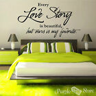 Love Story Vinyl Art Letters Home Wall Bedroom Room Quote Decal Sticker Decor