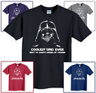 Darth Vader T-Shirt Star Wars Coolest Dad Ever Funny Size S-6XL