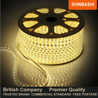 PREMIER IP66 240v Warm White SMD 3528 LED Ribbon Strips Rope Lights UK 5M 10M