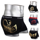 NEW Young Sexy Style Mens Underwear Boxer Briefs shorts Cotton Trunks Gold leaf