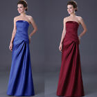 Graceful Women Satin Formal Prom Party Ball Cocktail Evening Dress Bridal Gown