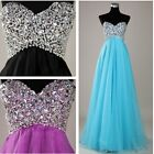 Sexy Sweetheart Fairy Tulle Formal Evening Party Long Prom Evening Dresses Gown