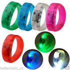 LED Sound Activated Light Glow Bracelet Wristband Bangle Party Disco Bar Gift