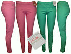 WOMEN'S NEW LADIES SUPER SKINNY STRETCH CANDY COLOUR JEANS JEGGINGS SIZE / 8-16