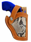 New Barsony Tan Leather Python Snake Skin Gun Holster Colt Snub Nose 2""