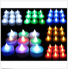 NEW 24 x FLICKERING LED TEA LIGHT CANDLES TEALIGHT TEA LIGHTS WITH BATTERIES