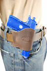 NEW Barsony Brown Leather OWB Yaqui Holster Ruger, Kimber Small 380 UltraComp 9Holsters - 177885