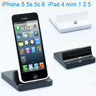 Fochutech 2in1 5V/2A desktop dock charger for iphone 5 5c 5s 6/4.7 6plus mini 4