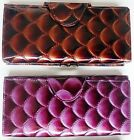 Ladies Purse Wallet with Shiny Patent Scallop Effect