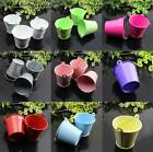 10 X Metal Mini Bucket Colored Wedding Party Favour Box Gift Pails Candy
