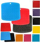 TRIVET  SILICONE  MAT HEAT RESISTANT PAN HOLDER IRON STRAIGHTENER COLOURS