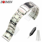 18mm 20mm 22mm New Men's Pure Solid Stainless steel 3 LINKS Watch Band Bracelets