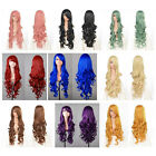 """32"""" 80cm Long Hair Heat Resistant Spiral Curly Cosplay Wig 9 Color"""