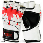 MMA Grappling Gloves UFC Mix Cage Fight Boxing Punch Bag Mitt Gloves Blood - M,L