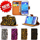 Newest Deluxe Leopard Print Wallet Flip Card Glitter Case Covers For SAMSUNG