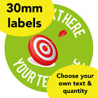 30mm Personalised stickers 'Target' Maths Science English school Teacher label