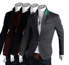 Fashion Design New Mens One Button Casual Sexy Slim Fit Suit Blazer Jacket Coats