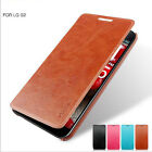 Slim Flip Folio PU leather Stand case cover for AT&T LG Optimus G2 D802 D801
