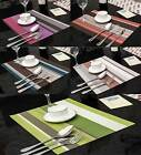 4 X PVC Table Mat With Woven Design Plastic Placemat Multicolor for Pick