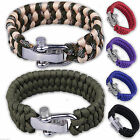 550lb Paracord Bracelet 7 Strand Survival Wristband Parachute Camping Emergency