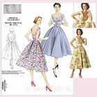 Vogue V2960 Sewing Pattern Misses' Vintage Dress with Flared Skirt 1950's