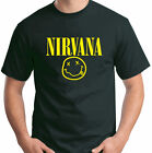 Nirvana Rockband T Shirt Smiley Face Kurt Size S-6XL