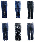 Motorbike motorcycle denim kevlar jeans with free armour blue black army navy