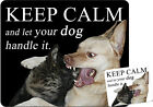 +++ KEEP CALM and LET DOG HANDLE IT - TEXTIL MOUSEPAD Mauspad LABRADOR - EEP 03