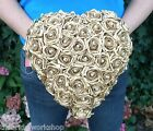 Wedding Flowers Bride Pearl Rose Heart Bouquet Posy Posie Teardrop ShowerWedding