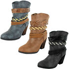 LADIES FASHION COWBOY BOOTS (SPOT ON F50204)