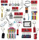 Novelty Keyrings - includes: poker chip keychains, globe keyring and many more