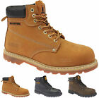 NEW MENS MAXSTEEL SAFETY WORK BOOTS SHOES TRAINERS STEEL TOE CAPS SIZE 4-13 LACE