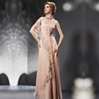 NEW Strapless One-Shoulder Floor-Length Pink Embroidery Evening Dresses(3066846)