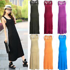 New Arrival Lady Summer Thin Casual Long Dress Sleeveless Jumper Pure Vest Shirt