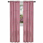 "Checkered Panel Drape 60""x108"" Gingham Buffalo Check Curtain (PRICE PER PANEL)"
