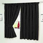 BLACK WHITE Polka Dot Spotted Spotty Kitchen Short CURTAINS TABLECLOTH s COVERS