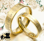 Gold Filled Bands Titanium Ring Flat Wedding Ring 057EE