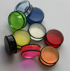 ONE PAIR Single UV Reactive Acrylic Plug Earlet 7/16 1/2 up to 1 inch ONE PAIR