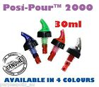 SHOT POURER 30ml - Liquor Bottle Dispenser Spirit Nip Measure Posi Pour 2000 Bar