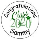 108 Graduation Label Kisses Labels - Personalized - Party Favors - Seals - 2020