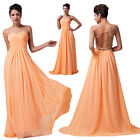 Long Backless Evening Gown Bridesmaid Dresses Prom Dress Formal Party Ball Gowns