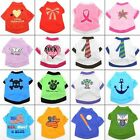 16 style Summer T shirt Tee Jumper Dress Pet Puppy Cat Dog Clothes Costume 4size