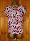NEW DP DOROTHY PERKINS LADIES FLORAL WHITE PINK PURPLE SUMMER BLOUSE TUNIC TOP